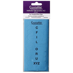 CRYSTALFILE TAB INSERTS A-Z Blue