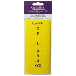 CRYSTALFILE TAB INSERTS A-Z Yellow