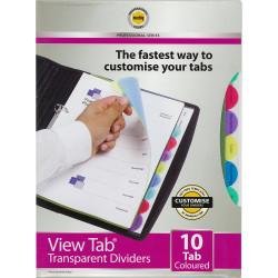 MARBIG VIEW TAB DIVIDERS A4 PP 10 Tab Colour