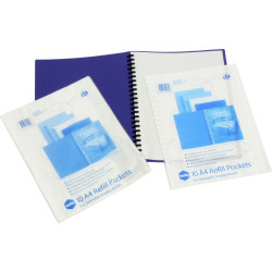 MARBIG REFILLABLE DISPLAY BOOK Refills A4 Clear