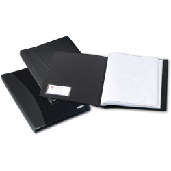 REXEL SOFT TOUCH DISPLAY BOOK A4 Smooth 36Pkt BLACK