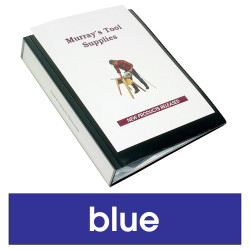 MARBIG CLEARVIEW DISPLAY BOOKS A4 50Pocket Blue