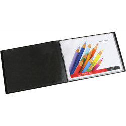 MARBIG DISPLAY BOOK LANDSCAPE A3 Insert Front Cover Black