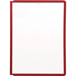 DURABLE SHERPA DISPLAY SYSTEM Panels A4 Pack 5 Red Pack of 5
