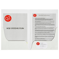 MARBIG PRESENTATION FOLDERS Pro Series Double Pocket Gloss