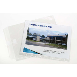 CUMBERLAND SHEET PROTECTOR A4 .20 Extra H/Duty with Flap