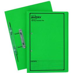 AVERY SPRING TRANSFER FILE Green Printed Black