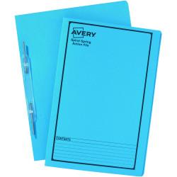 AVERY SPIRAL SPRING FILES Blue Printed Black