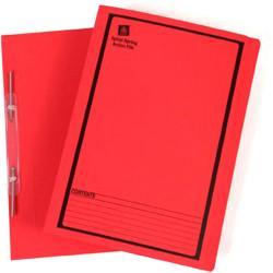 AVERY SPIRAL SPRING FILES Red Printed Black