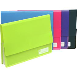 MARBIG POLYPICK DOCUMENT WLT A4 Heavy Duty Wallet Pink