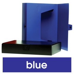 MARBIG BOX FILES W/ BUTTON PP A4 W245xL330x60mm Blue
