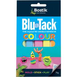 BOSTIK BLU-TACK 75gm Coloured Compact Pack