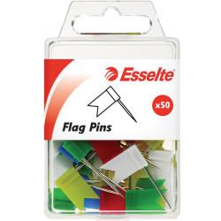 ESSELTE PINS FLAG 10x18x33mm Assorted
