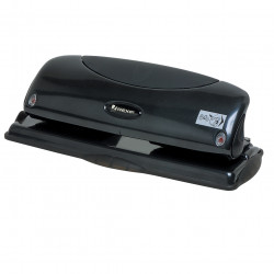 REXEL FIXED 4HOLE PUNCH 25Sht Black