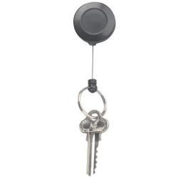 REXEL KEY/CARD HOLDER Retractable 630mm Mini Black
