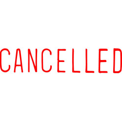 XSTAMPER -1 COLOUR -TITLES A-C 1119 Cancelled Red