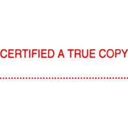 XSTAMPER -1 COLOUR -TITLES A-C 1541 Certified A True Copy Red
