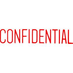 XSTAMPER -1 COLOUR -TITLES A-C 1130 Confidential Red