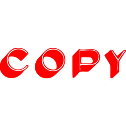 XSTAMPER -1 COLOUR -TITLES A-C 1336 Copy Red
