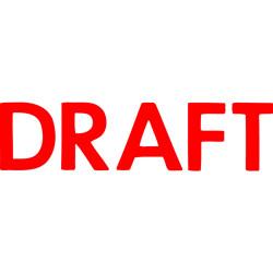 XSTAMPER -1 COLOUR -TITLES D-F 1068 Draft Red
