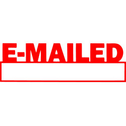 XSTAMPER -1 COLOUR -TITLES D-F 1650 Emailed/Date Red