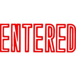 XSTAMPER -1 COLOUR -TITLES D-F 1021 Entered Red
