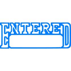 XSTAMPER -1 COLOUR -TITLES D-F 1205 Entered/Date Blue
