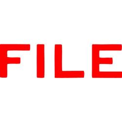 XSTAMPER -1 COLOUR -TITLES D-F 1051 File Red