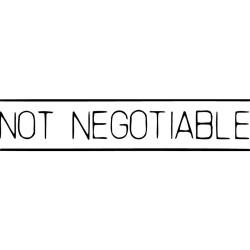 XSTAMPER -1 COLOUR -TITLES D-F 1124 Not Negotiable Black