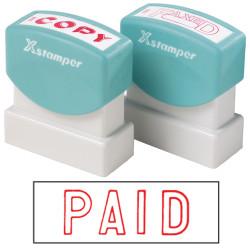 XSTAMPER -1 COLOUR -TITLES P-Q 1005 Paid Red