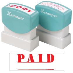 XSTAMPER -1 COLOUR -TITLES P-Q 1221 Paid Red