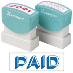 XSTAMPER -1 COLOUR -TITLES P-Q 1357 Paid Blue