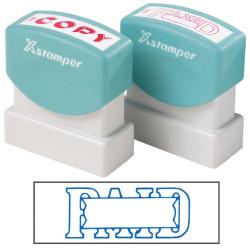 XSTAMPER -1 COLOUR -TITLES P-Q 1201 Paid/Date Blue