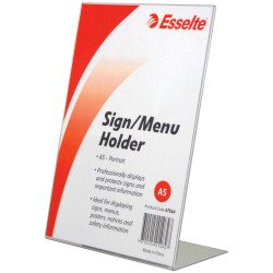 ESSELTE SIGN/MENU HOLDER A5 Slanted Portrait