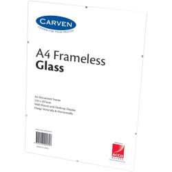CARVEN CERTIFICATE FRAME A4 Glass Frameless