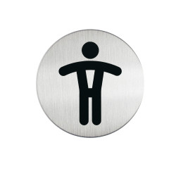 DURABLE PICTOGRAM SIGN WC Men 83mm
