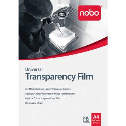 NOBO UNIVERSAL OHP FILM Inkjet/Laser Pk25