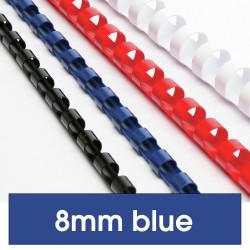 REXEL BINDING COMB 8mm 21Loop 45Sht Cap Blue