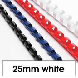 REXEL BINDING COMB 25mm 21 Loop 225Sht Cap White