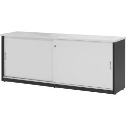 LOGAN CREDENZA 1200x450mm White & Ironstone