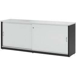 LOGAN CREDENZA 1800x450mm White & Ironstone