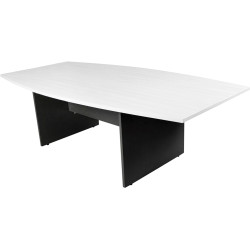 LOGAN BOARDROOM TABLE 2400x1200mm White & Ironstone