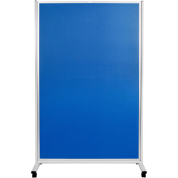 MOBILE DISPLAY PANELS D/SIDED 180x120 CM Fabric Blue