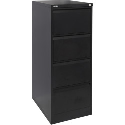 GO 4 DRAWER FILING CABINET H1321xw460xd620mm Black Ripple Furnx