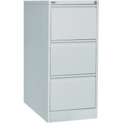 GO 3 DRAWER FILING CABINET H1016xw460xd620mm Silver Grey Furnx