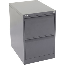 GO 2 DRAWER FILING CABINET H705 x W460 x D620mm Graph Ripple Furnx