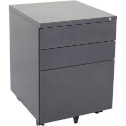 RAPIDLINE MOBILE PEDESTAL 3DR 2 Std 1 Filing Graphite Ripple H610xW450xD500