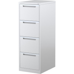 STEELCO FILING CABINET 4 Drawer White Satin