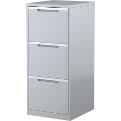 STEELCO FILING CABINET 3 Drawer Silver Grey