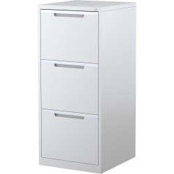 STEELCO FILING CABINET 3 Drawer White Satin